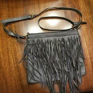 Fringe black purse